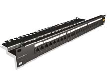Patch Panel STP 24 vie completo IDC 1U.R. NERO 1UR CAT6 Brand-rex